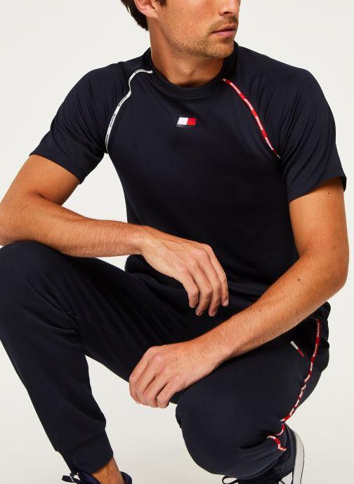 Vêtements Tommy Sport Piping Training Top Bleu vue détail/paire