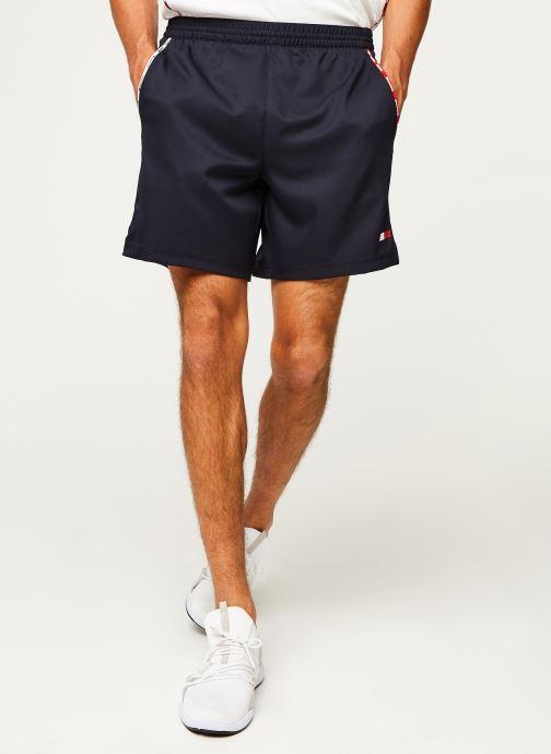 Vêtements Tommy Sport Stretch Woven Piping Short Bleu vue détail/paire