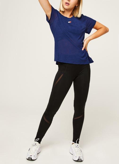 Vêtements Tommy Sport Performance Lbr Top Bleu vue bas / vue portée sac