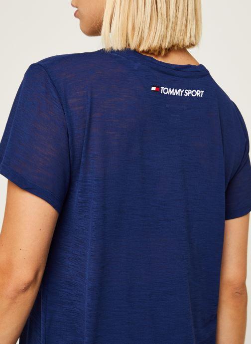 Vêtements Tommy Sport Performance Lbr Top Bleu vue face