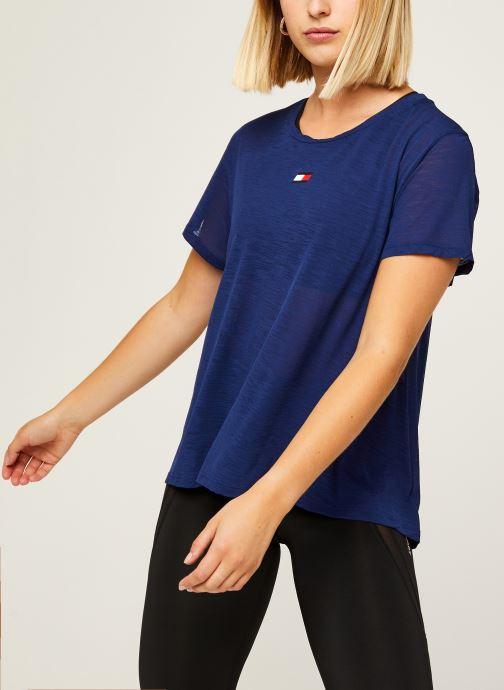 Vêtements Tommy Sport Performance Lbr Top Bleu vue détail/paire