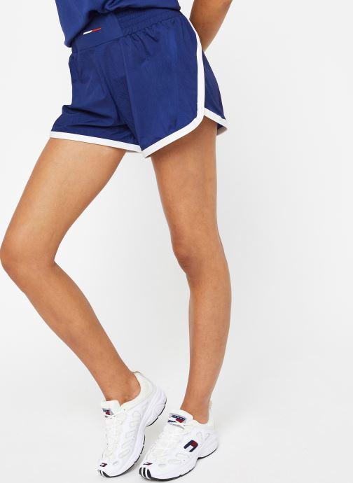 Vêtements Tommy Sport Highwaisted Woven Short Bleu vue détail/paire