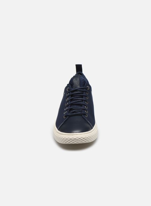 Baskets Polo Ralph Lauren DUNOVIN Bleu vue portées chaussures