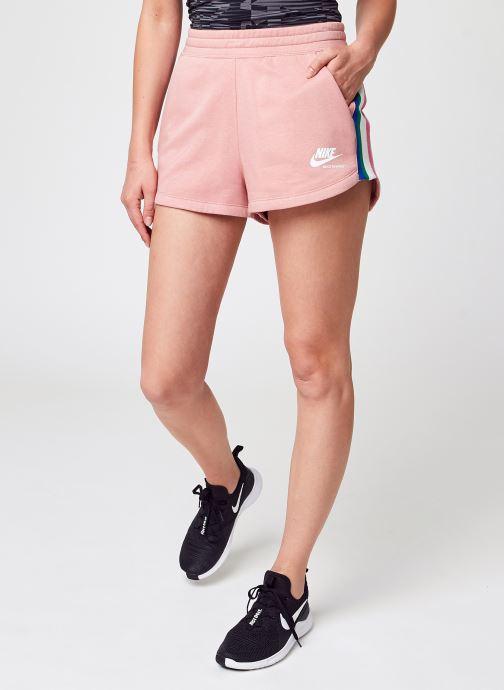 Vêtements Nike W Nsw Hrtg Short Flc Rose vue détail/paire