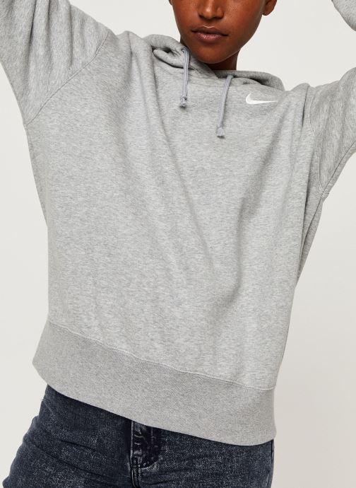 Kleding Nike W Nsw Hoodie Flc Trend Grijs detail
