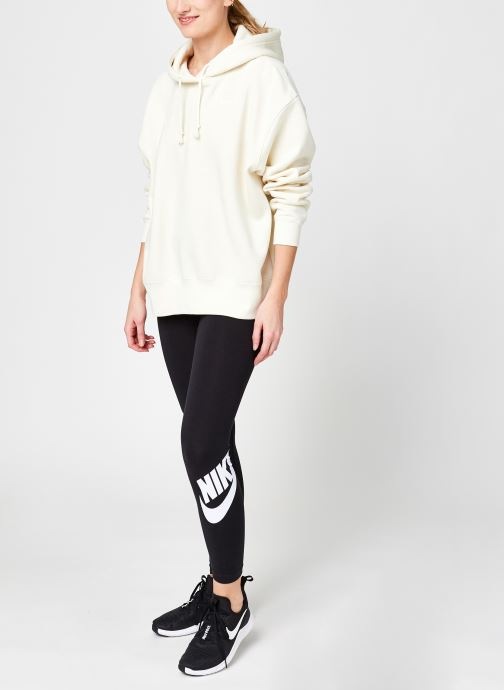 Vêtements Nike W Nsw Hoodie Flc Trend Beige vue bas / vue portée sac