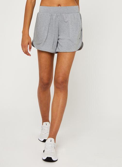 Vêtements Nike W Nk Yoga Rib Short Gris vue détail/paire