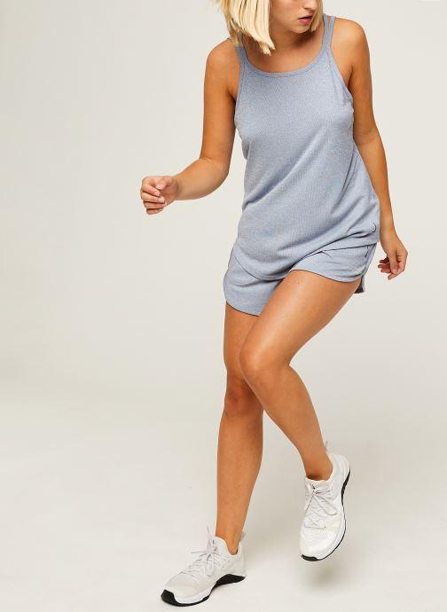 Vêtements Nike W Nk Yoga Rib Short Bleu vue bas / vue portée sac