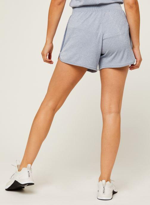 Vêtements Nike W Nk Yoga Rib Short Bleu vue portées chaussures