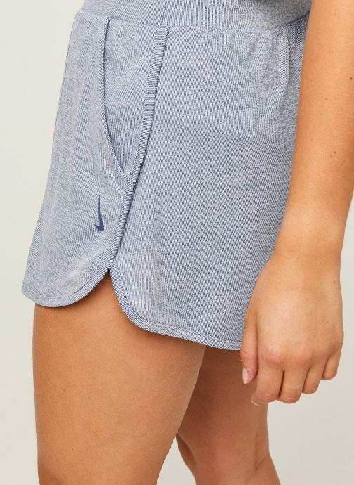 Vêtements Nike W Nk Yoga Rib Short Bleu vue face