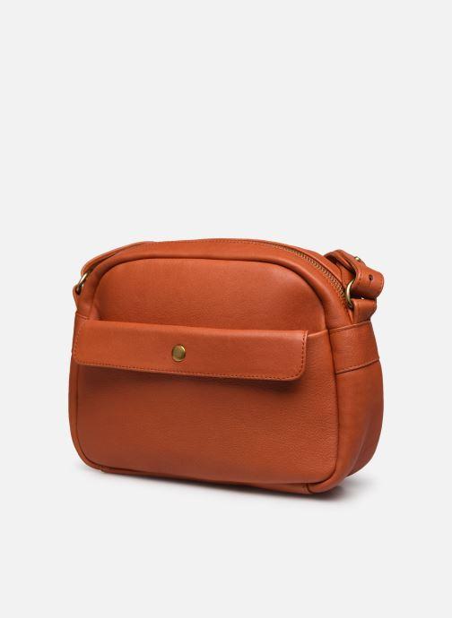 Handtaschen Georgia Rose Colette orange schuhe getragen