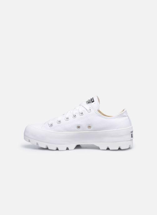Sneaker Converse Chuck Taylor All Star Lugged Basic Canvas Ox weiß ansicht von vorne