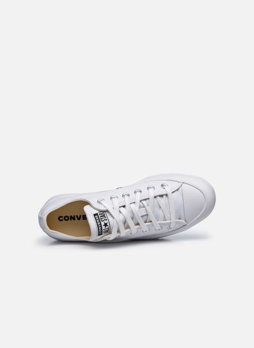 Sneaker Converse Chuck Taylor All Star Lugged Basic Canvas Ox weiß ansicht von links