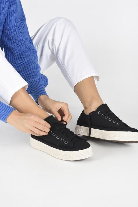Sneaker Converse Chuck Taylor All Star Espadrille Trail to Cove Ox schwarz ansicht von unten / tasche getragen