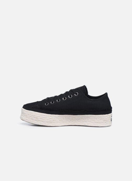 Sneaker Converse Chuck Taylor All Star Espadrille Trail to Cove Ox schwarz ansicht von vorne