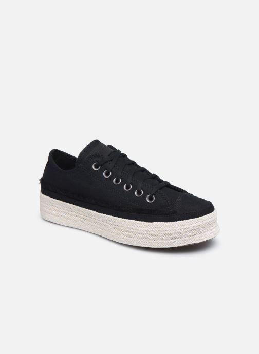 Sneaker Converse Chuck Taylor All Star Espadrille Trail to Cove Ox schwarz detaillierte ansicht/modell