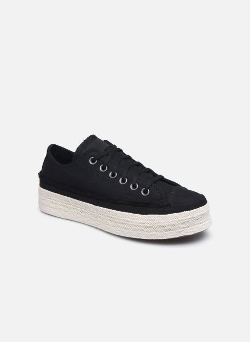 Sneakers Converse Chuck Taylor All Star Espadrille Trail to Cove Ox Zwart detail