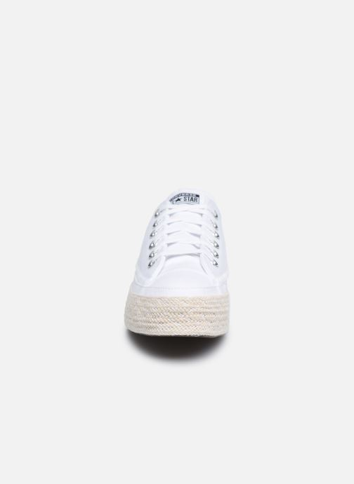 Baskets Converse Chuck Taylor All Star Espadrille Trail to Cove Ox Blanc vue portées chaussures