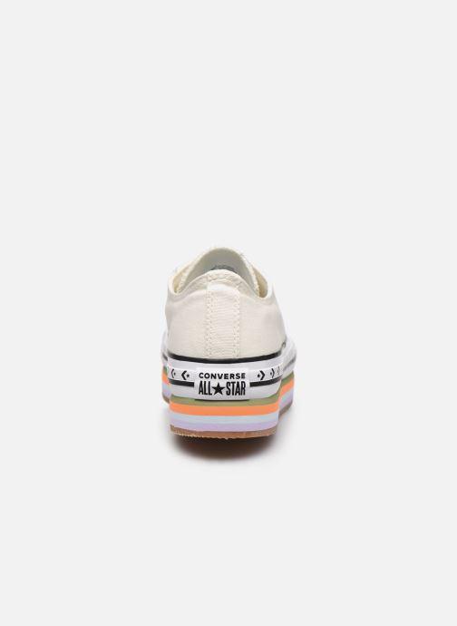 Sneakers Converse Chuck Taylor All Star Platform Layer Sun Blocked Ox Wit rechts