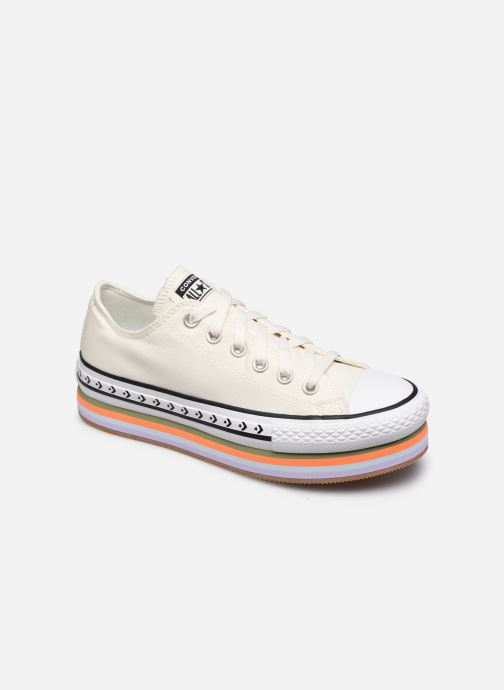 Sneakers Converse Chuck Taylor All Star Platform Layer Sun Blocked Ox Wit detail