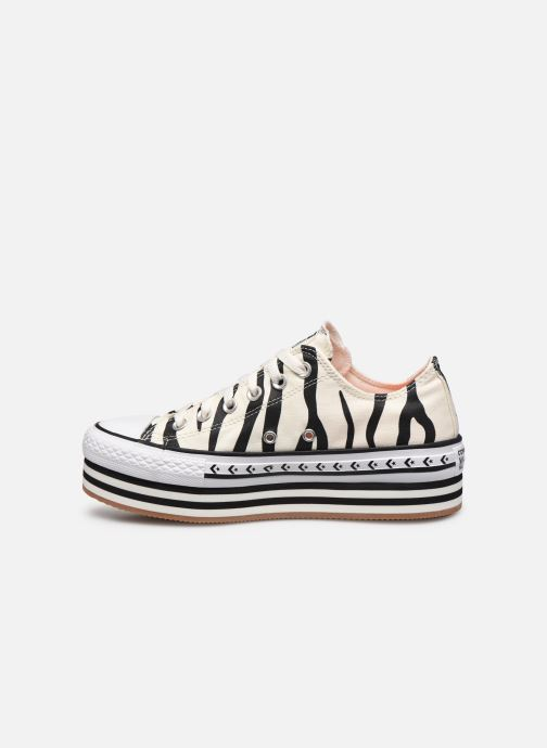 Sneakers Converse Chuck Taylor All Star Platform Layer Sun Blocked Ox Wit voorkant