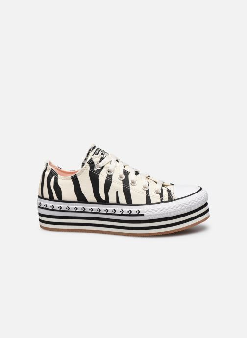 Sneakers Converse Chuck Taylor All Star Platform Layer Sun Blocked Ox Wit achterkant