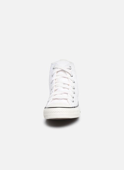 Baskets Converse Chuck Taylor All Star Boho Mix Hi Blanc vue portées chaussures