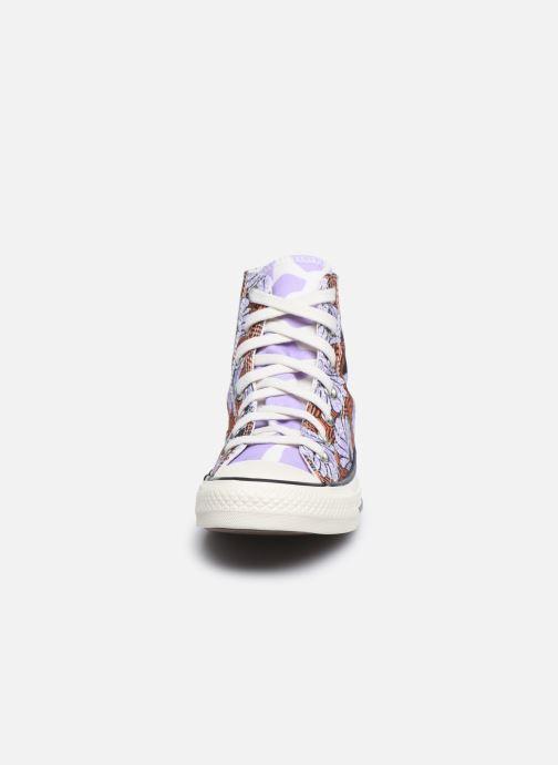 Baskets Converse Chuck Taylor All Star Sunblocked Floral Hi Multicolore vue portées chaussures