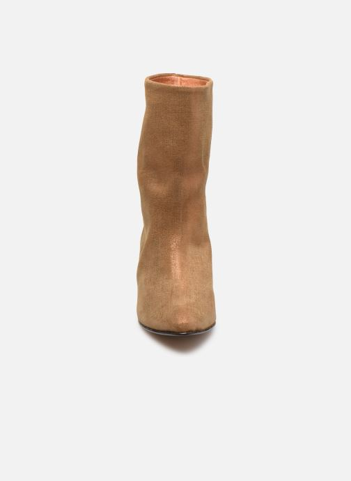 Bottines et boots Anonymous Copenhagen VULLY STILETO 50 Or et bronze vue portées chaussures