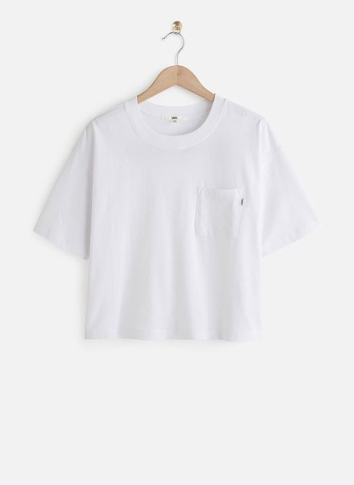Vêtements Vans BRUSH OFF TOP Blanc vue détail/paire