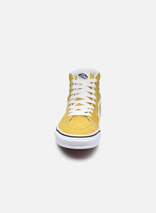 Sneaker Vans UA SK8-Hi gelb schuhe getragen