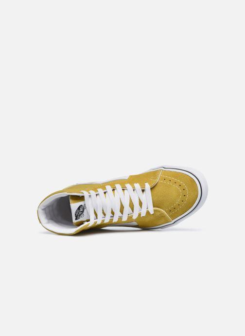 Sneaker Vans UA SK8-Hi gelb ansicht von links