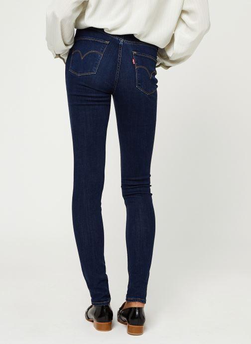 Vêtements Levi's 721™ High Rise Skinny Bleu vue portées chaussures
