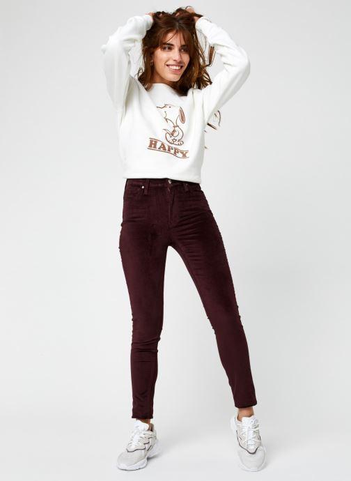 Vêtements Levi's 721™ High Rise Skinny Bordeaux vue bas / vue portée sac