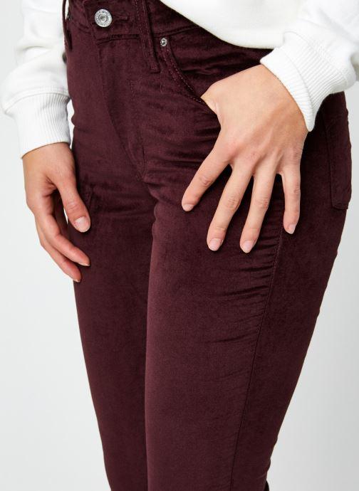 Vêtements Levi's 721™ High Rise Skinny Bordeaux vue face