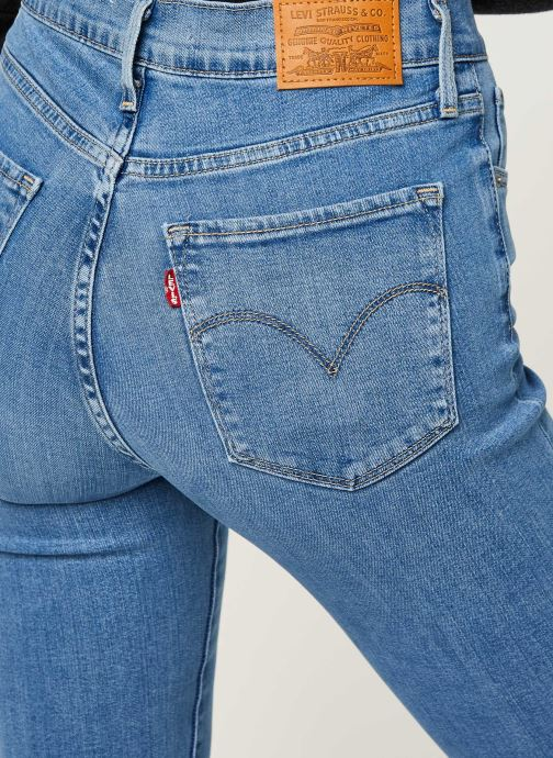 Vêtements Levi's 724™ High Rise Straight Bleu vue face