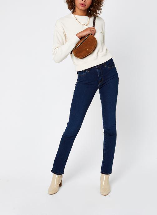Vêtements Levi's 724™ High Rise Straight Bleu vue bas / vue portée sac