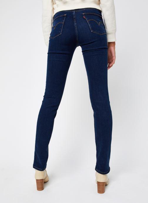 Vêtements Levi's 724™ High Rise Straight Bleu vue portées chaussures