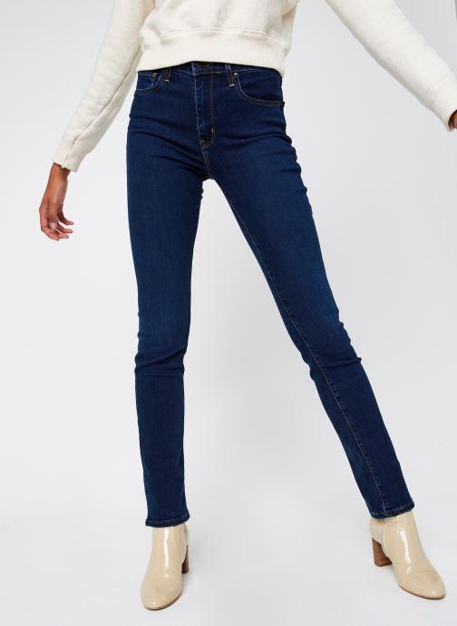 Vêtements Levi's 724™ High Rise Straight Bleu vue détail/paire