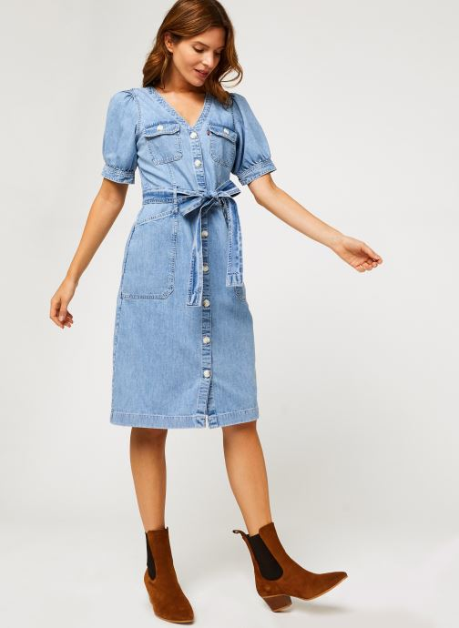 Vêtements Levi's Bryn Dress Bleu vue bas / vue portée sac