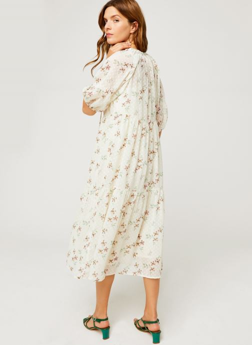 Vêtements Levi's Azalea Dress Blanc vue portées chaussures