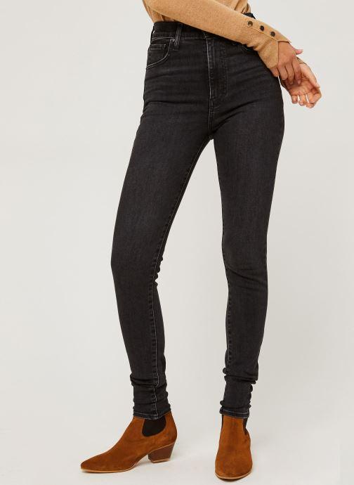 Vêtements Levi's Mile High Super Skinny Noir vue détail/paire