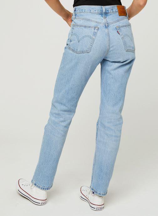 Vêtements Levi's 501® Crop Bleu vue portées chaussures