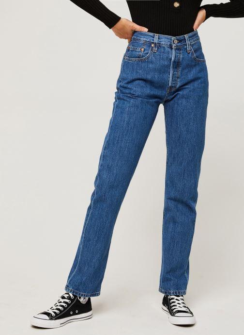 Vêtements Levi's 501® Crop Bleu vue détail/paire