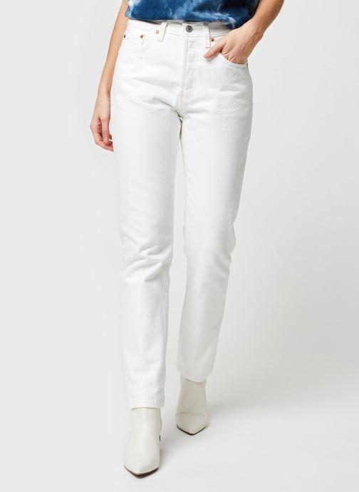 Vêtements Levi's 501® Crop Blanc vue détail/paire