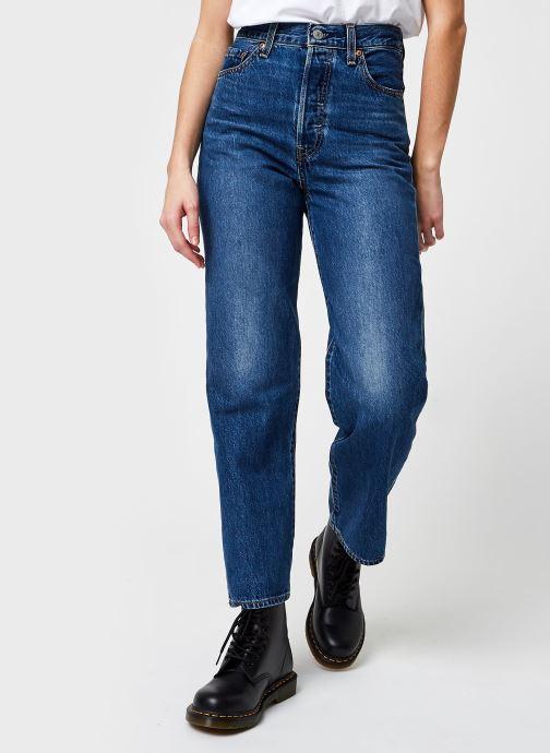 Vêtements Levi's Ribcage Straight Ankle Bleu vue détail/paire