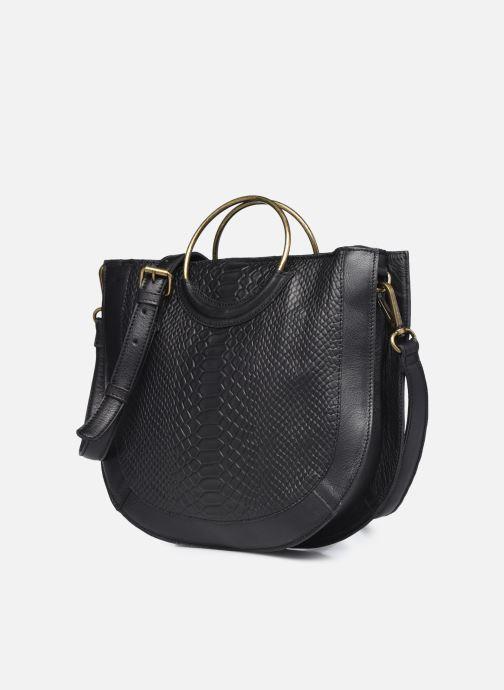 Bolsos de mano Pieces SINA LEATHER DAYLY BAG Negro vista del modelo