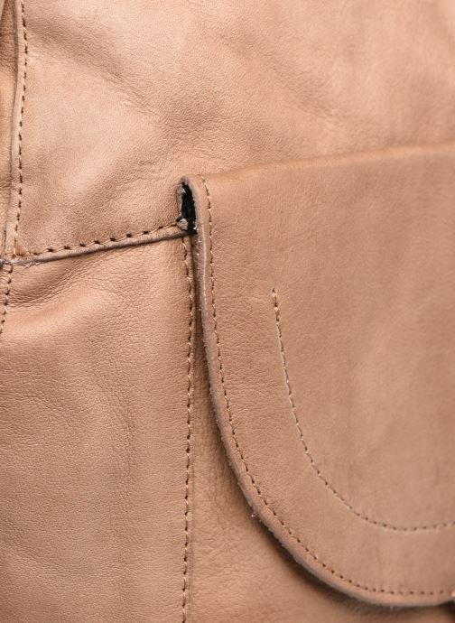 Bolsos de mano Pieces SELINAS LEATHER DAILY BAG Marrón vista lateral izquierda