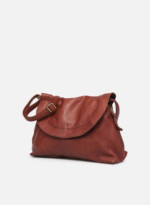 Handtaschen Pieces SAKINA LEATHER LARGE CROSS BODY rot schuhe getragen
