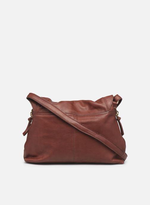 Handtaschen Pieces SAKINA LEATHER LARGE CROSS BODY rot ansicht von vorne